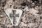 Image of spiritual. Christian cross on a wall
