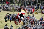 Image of clash. Armies clash at Grunwald