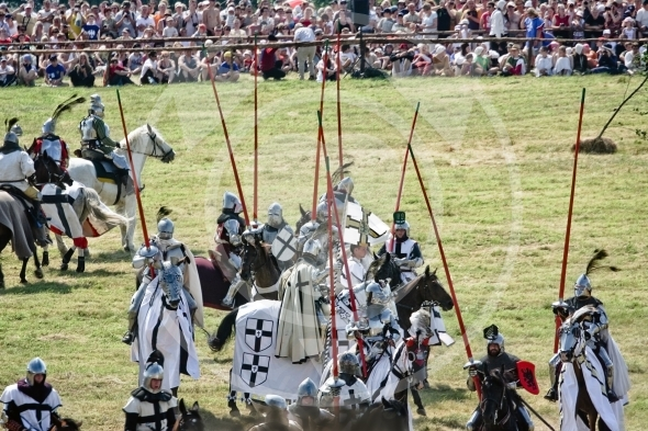 Teutonic Knights jousting time – Battle of Grunwald reenactment