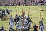 Image of teutonic. Teutonic Knights jousting time – Battle of Grunwald reenactment