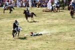 Image of drag. Peasant dragged by a horse