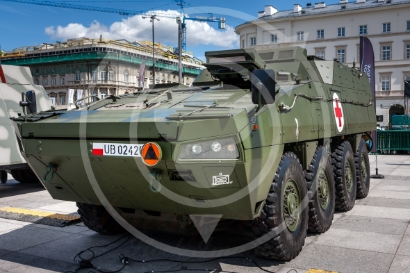 KTO ROSOMAK WEM, armored ambulance vehicle