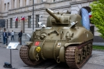 Image of tank. Sherman M4 tank