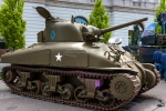 Image of tank. M4 Sherman tank