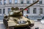 Image of soviet. T-34 85 Soviet tank