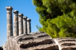 Image of columns. Ancient columns, Temple of Athena ruins of Priene, Turkey