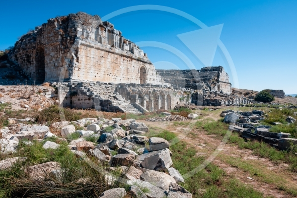 Ancient Greek theater of Miletus in Turkey