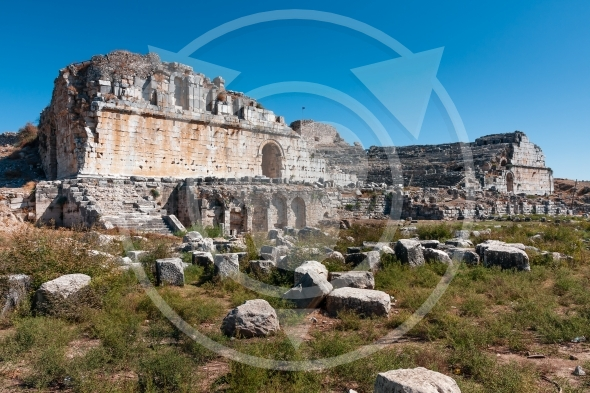 Miletus theater. Ruins of ancient Greek city