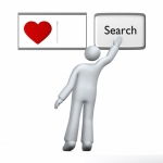 Image of love. Looking for love – search input