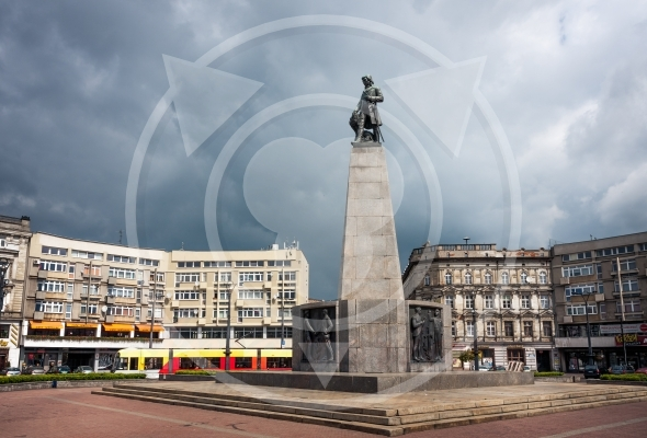 Liberty Square Lodz City (Plac Wolnosci), Tadeusz Kosciuszko statue