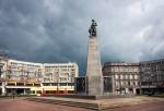 Image of Liberty. Liberty Square Lodz City (Plac Wolnosci), Tadeusz Kosciuszko statue