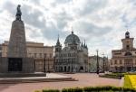 Image of square. Liberty Square Kosciuszko statue. Lodz City landmarks