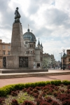 Image of Lodz. Liberty Square and Tadeusz Kosciuszko statue in Lodz City