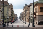 Image of Piotrkowska. Main city street, Piotrkowska in Lodz