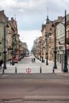 Image of street. Lodz City, famous Piotrkowska Street