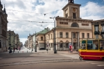 Image of Piotrkowska. Piotrkowska Street, Liberty Square, Lodz