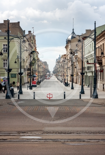 Lodz, Piotrkowska Street from the Liberty Square