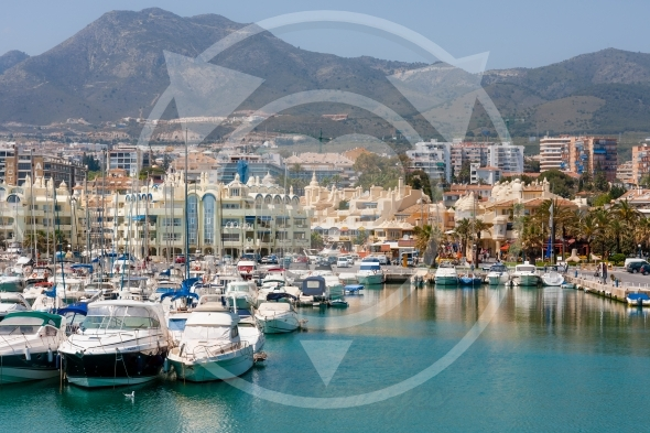Marina full of sailing boats in Benalmadena, Costa del Sol