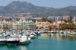 Image of marina. Marina full of sailing boats in Benalmadena, Costa del Sol