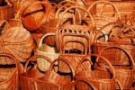 Image of basket. Wicker baskets