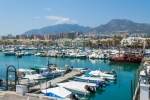Image of harbor. Sailing boats in Benalmadena Marina, Spain