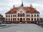 Image of neogothic. Pisz Town, neogothic town hall