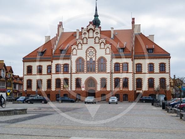 Pisz Town, neogothic town hall