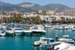 Image of sailboats. Benalmadena Marina sailing boats