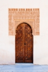 Image of relief. Ancient door islamic stucco