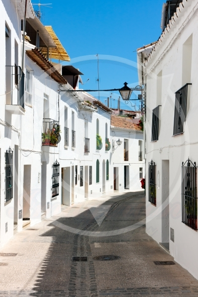 Mijas streets, white washed houses