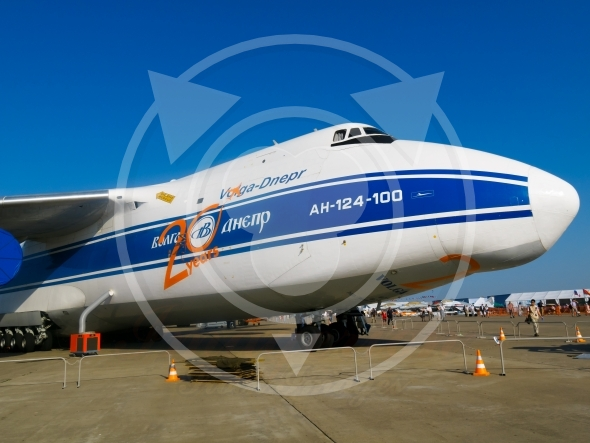 Antonov Volga-Dnepr airplane fuselage and nose AN-124-100