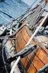 Image of sailing. Sailboat pulley
