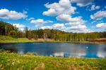 Image of Masuria. Forest lake. Masuria, Poland