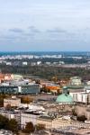 Image of Warszawa. Warsaw aerial view, Poland