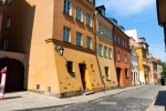 Image of tenement. Warsaw City downtown,  XIX century Old Town