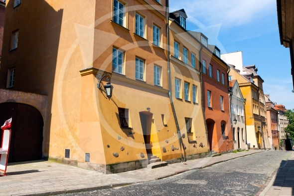 Warsaw City downtown,  XIX century Old Town