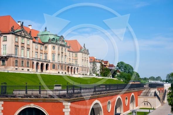Royal Castle, Warsaw. East side and Kubicki Arcades