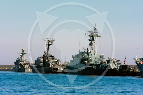 Small missile boats of Polish Navy in port of Gdynia