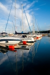 Image of sailboat. Sailboats in port of Gdynia City