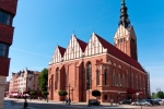 Image of cathedral. St. Nicholas Cathedral in Elblag City, Poland