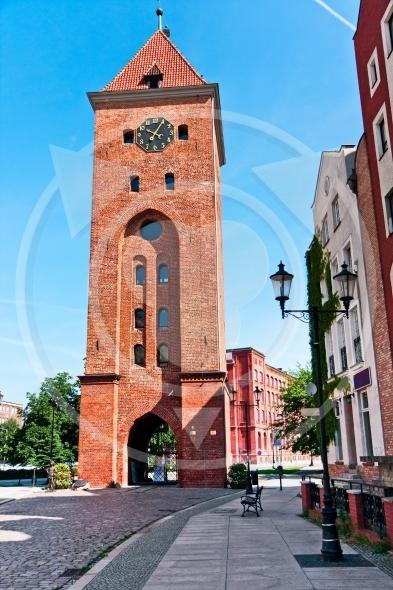 Elblag City, the Market Gate  XIVth, Poland