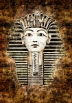 Image of egypt. Tutankhamun, King Tut, Egypt. Vintage style illustration