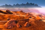 Image of planet. Martian Landscape