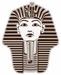 Image of pharaoh. Tutankhamun, King Tut pharaoh, Egypt. Outline illustration