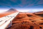 Image of Martian. Giant pipelines on Mars