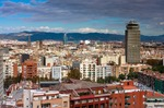 Image of Spain. Barcelona centre seen from the Montjuic mountain