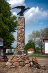 Image of eagle. Tykocin statue Order of the White Eagle