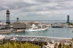 Image of port. Port Vell of Barcelona