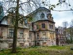 Image of abandoned. Guzow ,Sobanski Palace ruins