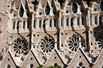 Image of Gaudi. Sagrada Familia architectural patterns